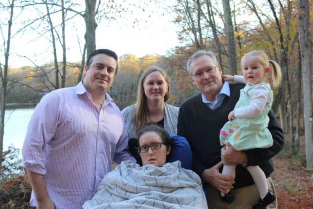 Katja Krumpelbeck in a family photo posted on a gofundme fundraiser page.
