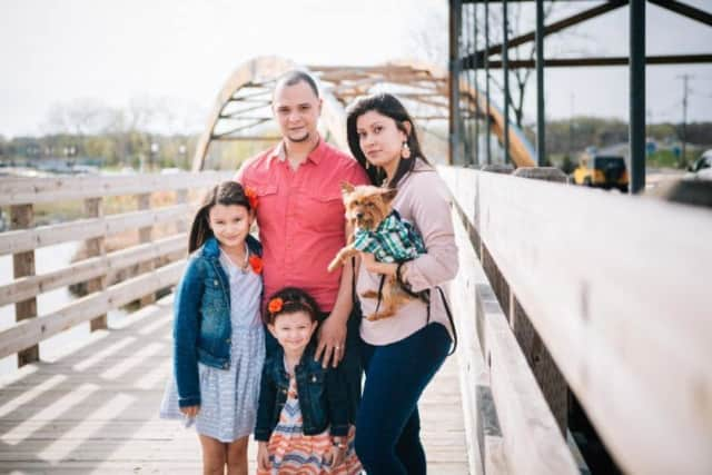 "Yuniel ""Nuni"" Henriquez with wife, Christynn, and daughters, Mia and Myla, of Saddle Brook."