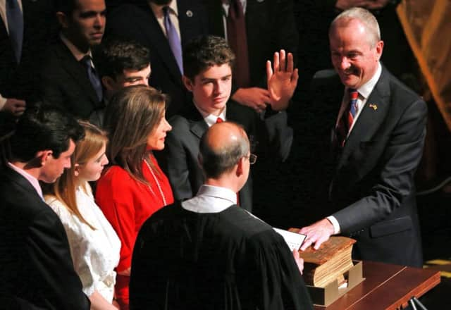 Phil Murphy was sworn in as New Jersey's 56th governor in Trenton on Tuesday.