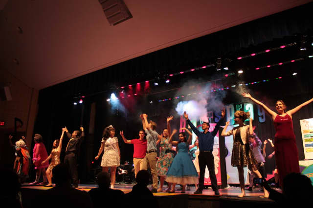 "Peekskill students performing ""Hairspray."""