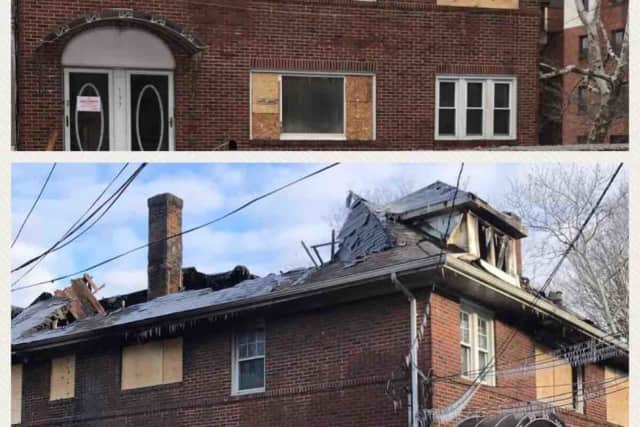 Fire tore through the home of the mother of Shamoya McKenzie in Mount Vernon.