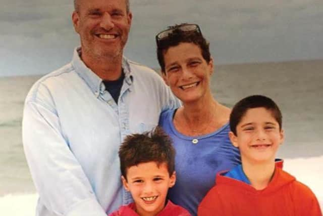 Debra Heyman Leitner with husband Kenny and sons Ryan and Jaxson of Scarsdale.