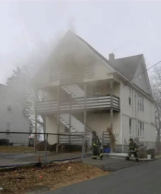 A fire at a multi-family home left four residents displaced.