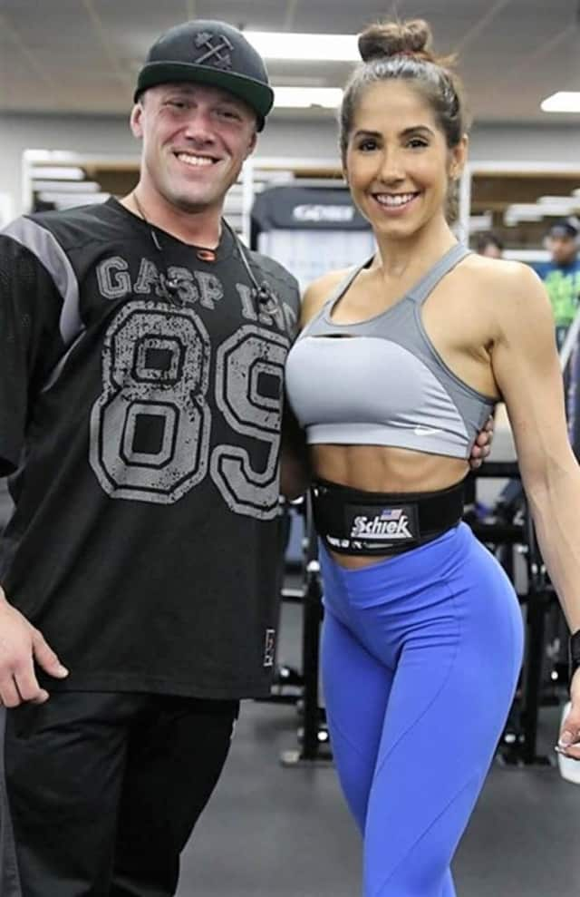 Angelica Teixeira with Powerhouse Gym trainer Greg Wetterau of Mahwah.