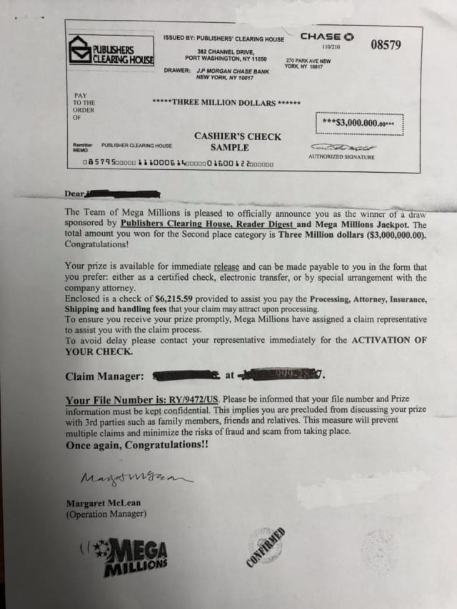 The Tuckahoe Police Department released an example of the letter residents have received.