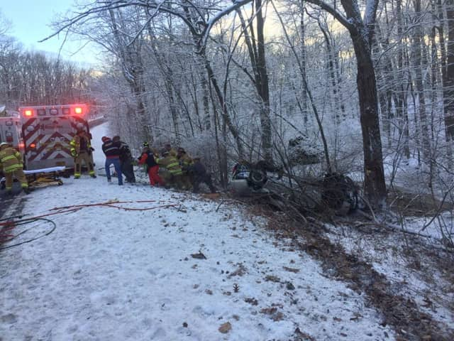 One person was injured in a single-vehicle crash on the Taconic Parkway on Friday afternoon.
