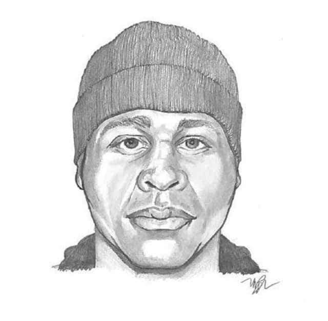 The Stamford Police Department released a sketch of a man wanted for his involvement in multiple incidents.