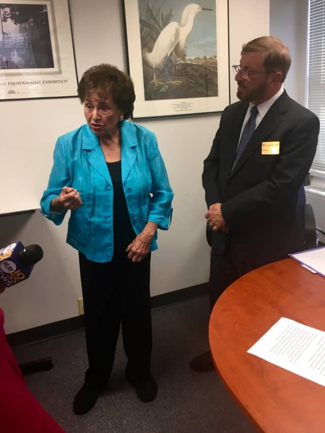 U.S. Rep. Nita Lowey of Harrison held a press conference in White Plains on Thursday to address the need for emergency funding to combat the Zika virus in the United States.