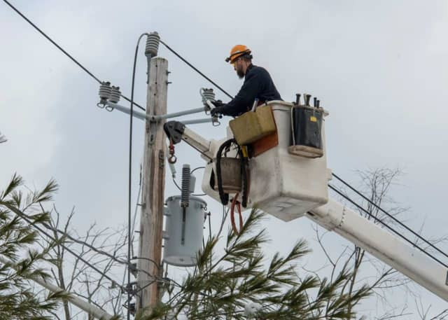 Utility companies are working to restore power to Bergen and Passaic counties.