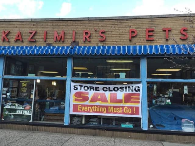 Kazimir's Pets is closing next month.