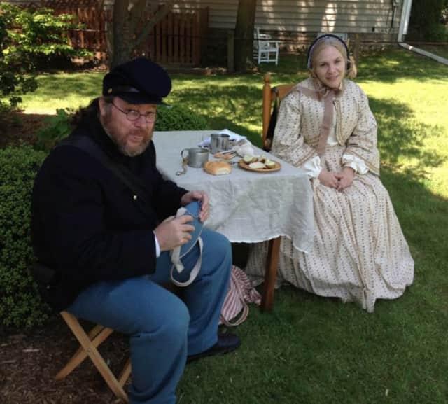 Historical reenactments for Ridgewood Historical Society.