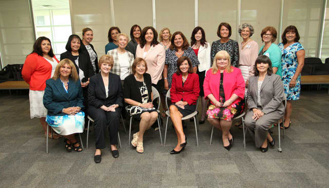 Businesswomen met with New York State Leiutenant Governor Kathy Hochul at Rockland Community College.