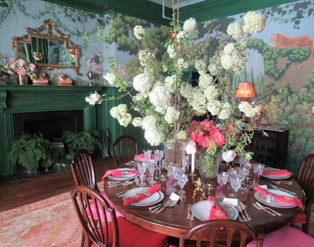 """Ken Fulk's """"Madame's Magical Menagerie,"""" created for last year's Kips Bay Decorator Show House, typifies the showstopping design featured at the annual event. Photograph by Mary Shustack."""