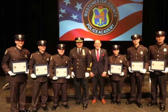 Members of the Harrison Police Department graduated from the Westchester County Police Academy.