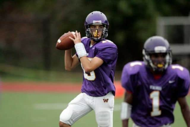 Peter Cernansky drops back for a pass during his playing days at Westhill High School.
