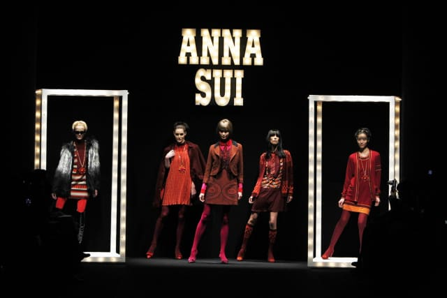 Anna Sui Fashion Show Fall 2013. Photograph by Thomas Lau. Courtesy Museum of Arts and Design.