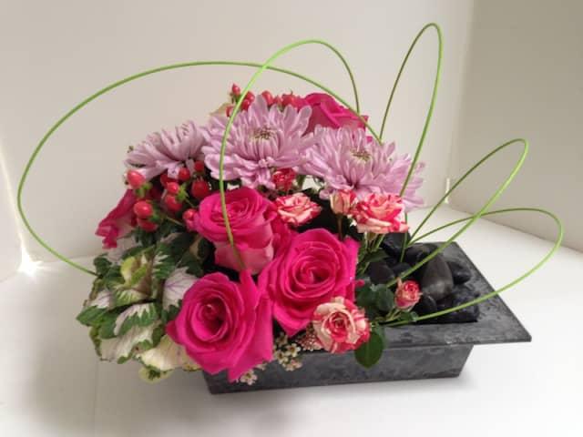 An arrangement from East Meets West Flowers in Pleasantville.