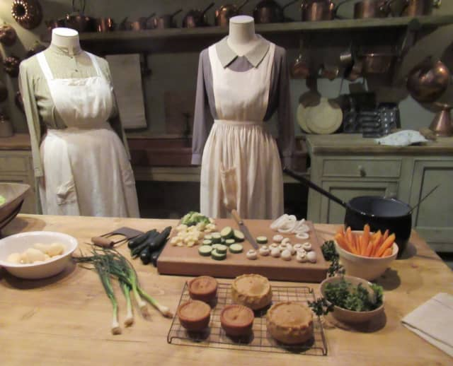 """""""Downton Abbey: The Exhibition"""" includes a detailed scene depicting Mrs. Patmore's kitchen. Photograph by Mary Shustack."""