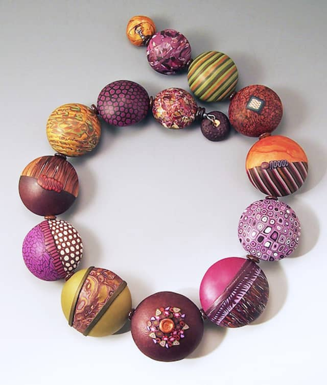 Loretta Lam, the Carmel-based jewelry artist who created this work, will participate in Spring Crafts at Lyndhurst in Tarrytown. Photograph © Artrider Productions Inc.