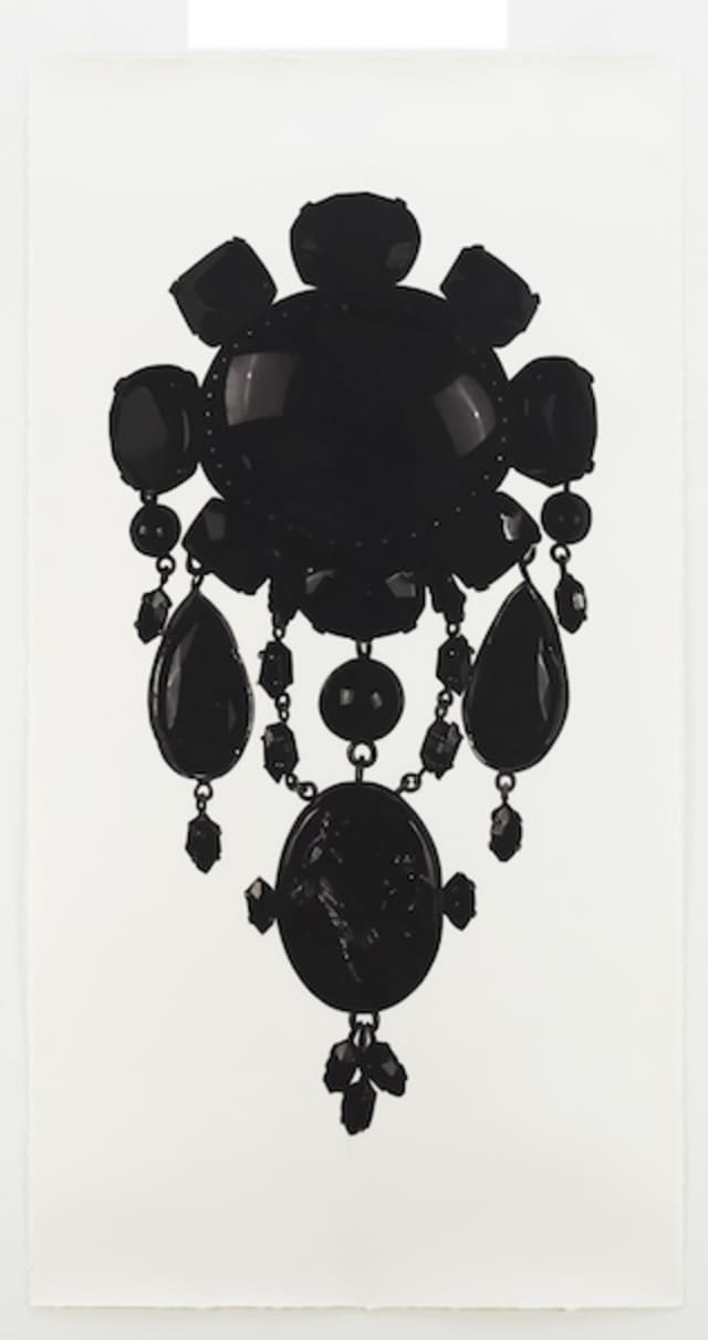 """Jonathan Wahl, """"Teutoburg Brooch,"""" 2010, Charcoal on paper, 72.00 x 48.00 inches, Courtesy of the artist. © Jonathan Wahl. Courtesy Katonah Museum of Art."""