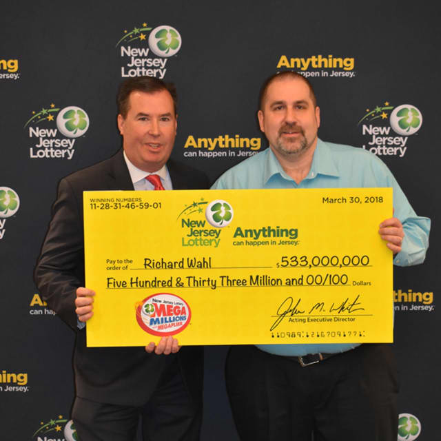 Richard Wahl of Vernon won the $533 million NJ Lottery ticket from the March 30 drawing.