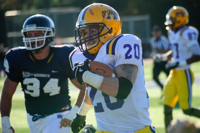 Dillon Romain was a star running back at Don Bosco Prep and later UAlbany.