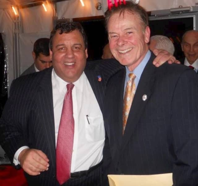 William Pat Shuber, right, and Gov. Chris Christie.