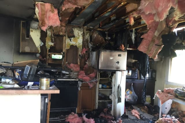 A woman lost her home when a  house fire broke out in Wappingers Falls.
