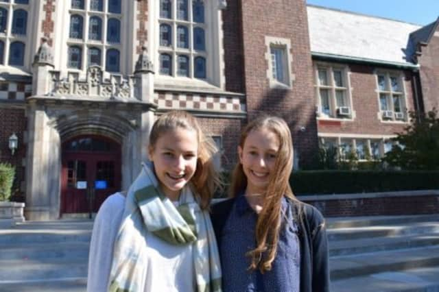 Bronxville Middle School students Kelly Weild and Esther Thomet were awarded for their creativity.