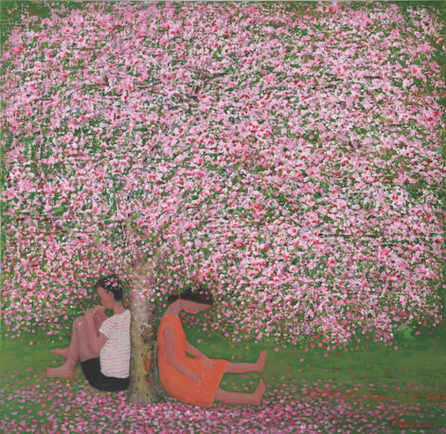 "Lee Kui Dae's ""Printemps."" Image courtesy Canfin Gallery."