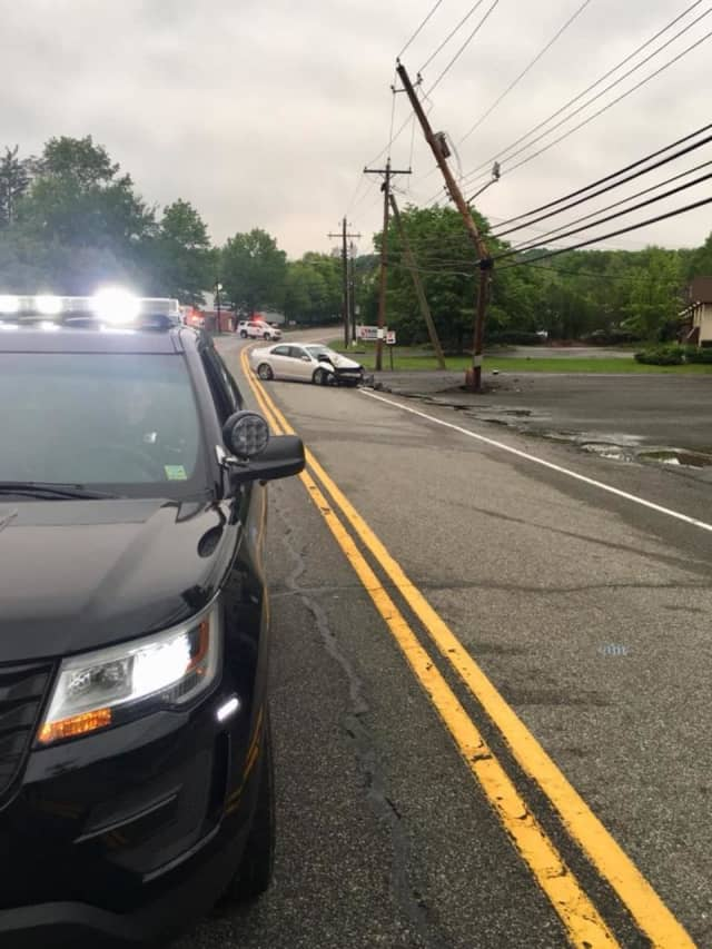 Police in Clarkstown temporarily closed down Route 9W in Congers on Tuesday.