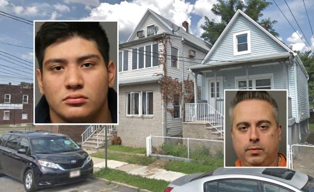 "Ray Street neighbors Leonardo L. Perez (left), Pasquale ""Pash"" Bernaldo-Antonelli"