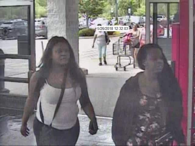 The Ramapo Police Department released surveillance photos of the two suspects.