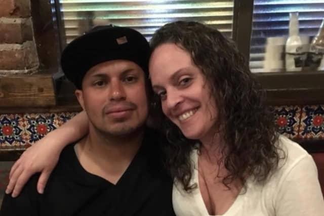 Alan Ramirez with his girlfriend