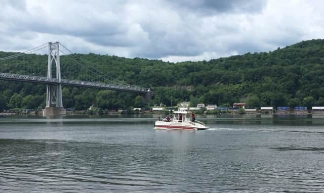 Marine 1 with the City of Poughkeepsie Fire Department is searching for one person missing in the Hudson River.