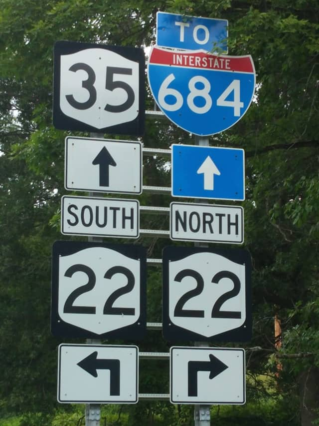 Route 35, Route 22, I-684