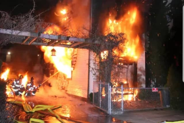 Two families both with young children were displaced in Tuesday's fire.
