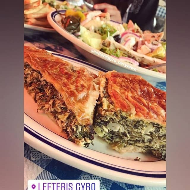 Spanakopita (spinach pie) from Lefteris Gyro, which opened a new location serving Greek cuisine in Pleasantville (501 Marble Ave.) on Monday, Sept. 30.