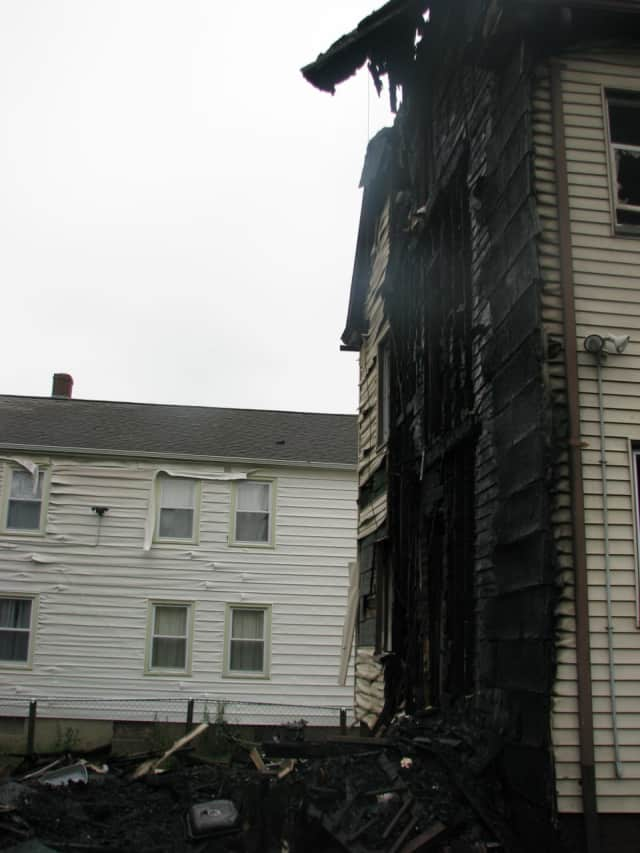 Stratford firefighters battled an intense fire on Canaan Road that injured four.