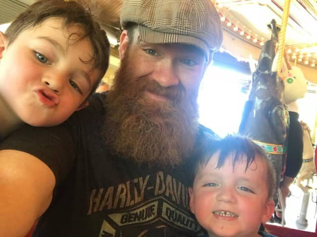 Jason Spittle, 42, of Fair Lawn, and his boys.