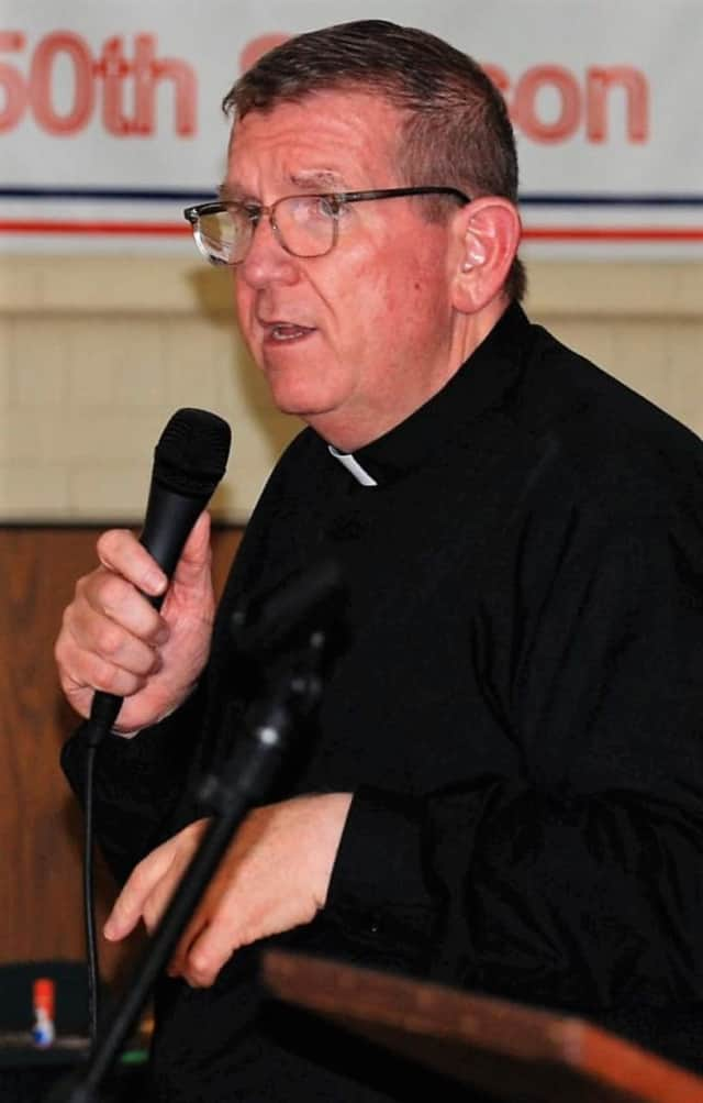 Fr. Jim Weiner of St. Andrew's Church in Westwood