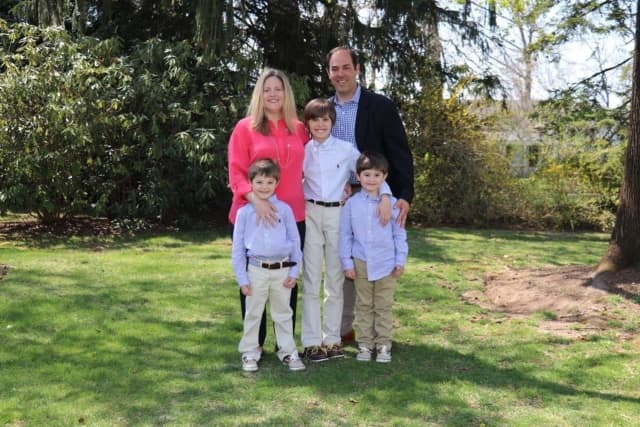 Sargis Khoobiar, 43, with his wife Kristen Khoobiar and sons, Brian, Connor and Hunter Khoobiar.