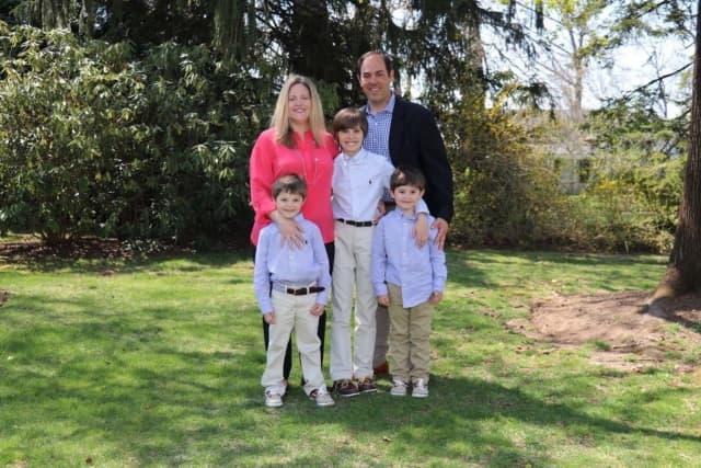 Sargis Khoobiar, 43, with his wife Kristen Khoobiar and sons, Brian, Connor and Hunter Khoobiar.