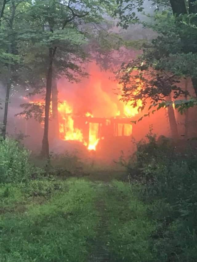 A cottage in Nanuet was destroyed by fire.