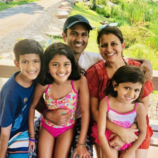 Rama Ginde and family, of Hillsdale.