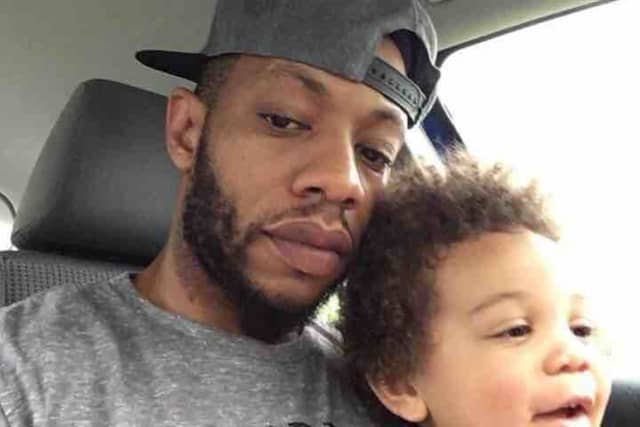 Uzodinma Oguh and his son Luke. Oguh was killed in a traffic accident in Hillside April 22.