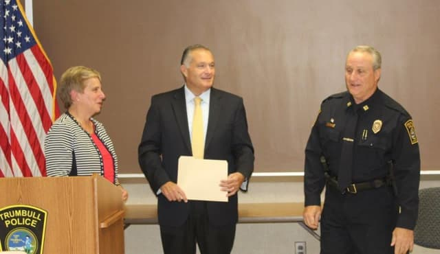Trumbull Police Lt. Keith Golding was recently promoted to the rank of captain.