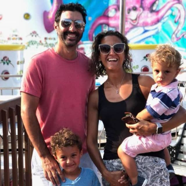 Frankie Reganato with her husband Anthony and two kids, ages 4 and 2.