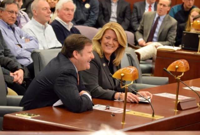 "Robert ""Spike"" Reed, of Darien, at a budget hearing in Hartford"