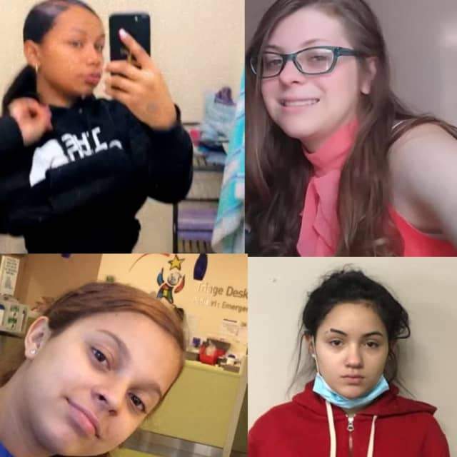 Missing girls from the top going clockwise - Anayisalis Silvera, Crystal Badillo, Saray Ortiz, and Hayleigh Gonzalez